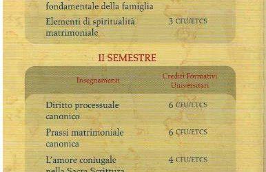 Corso di Studi: Il nuovo Dipartimento di Diritto Canonico (PFTIM)