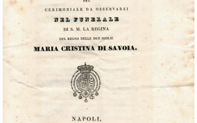 Programma del cerimoniale in occasione del funerale della regina Maria Cristina di Savoia, oggi Beata.